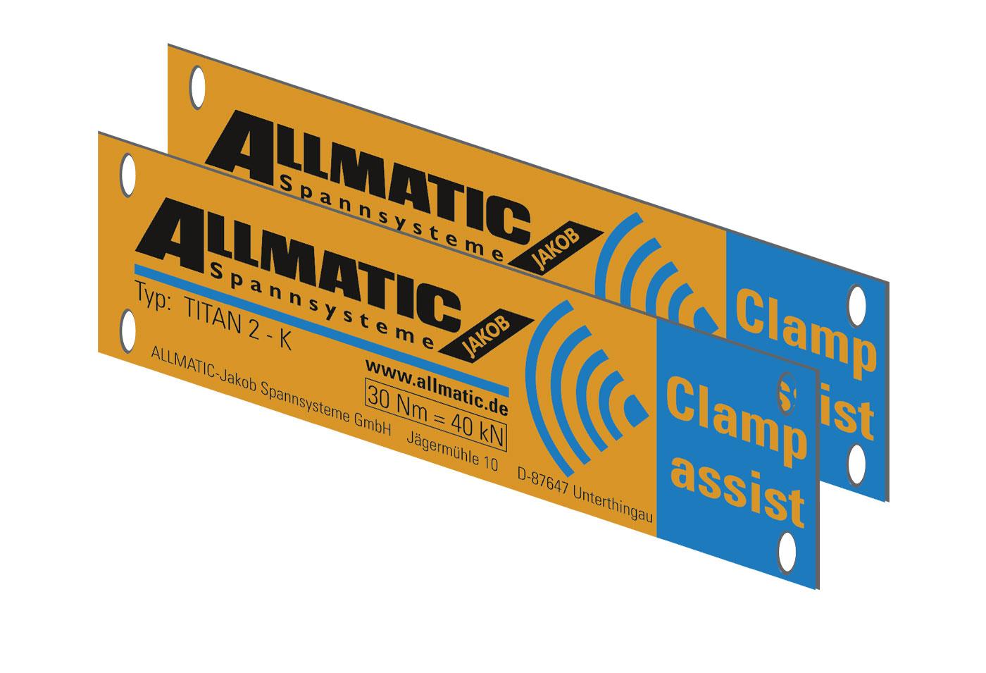 Typenschild - TITAN 2 K Clamp assist